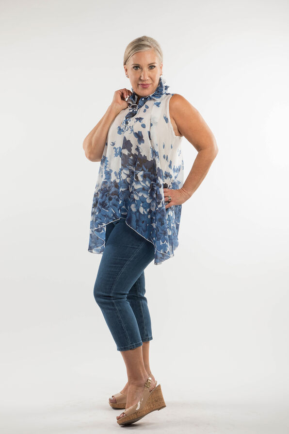 Blossoming Sleeveless Blouse, , original image number 0