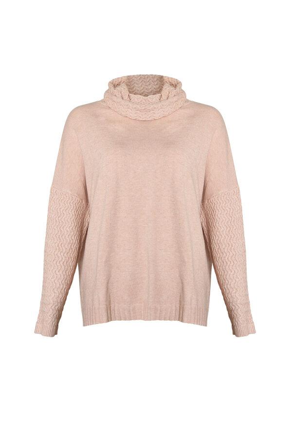 Imani Textured Cowl Neck Sweater, , original image number 0