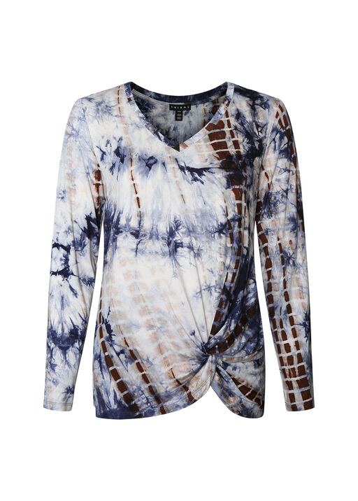 Candace Tie Dye with Knotted Hem , , original