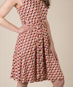 Diana Geo Print Dress, Coral, original image number 0