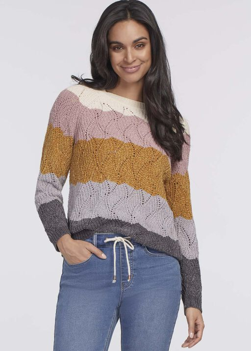 Katie Waffle Sweater, Multi, original