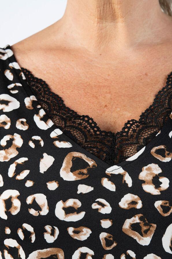 Leopard Lace Top, Black, original image number 3