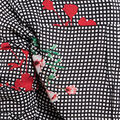 Floral Gingham Checked Blouse, Red, swatch