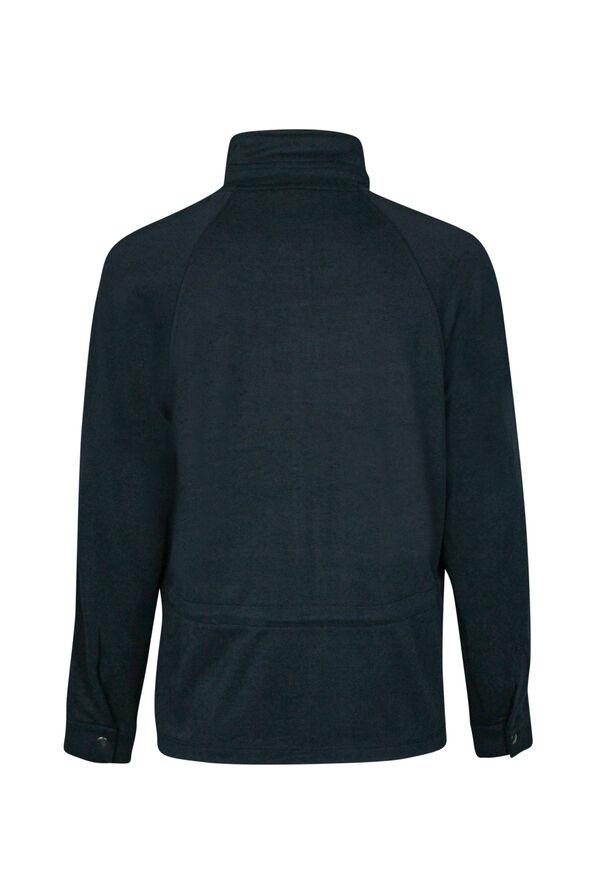 Front Zip Casual Jacket, Black, original image number 1