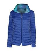 In the City Reversible Jacket with Hidden Hood, Blue, original image number 1