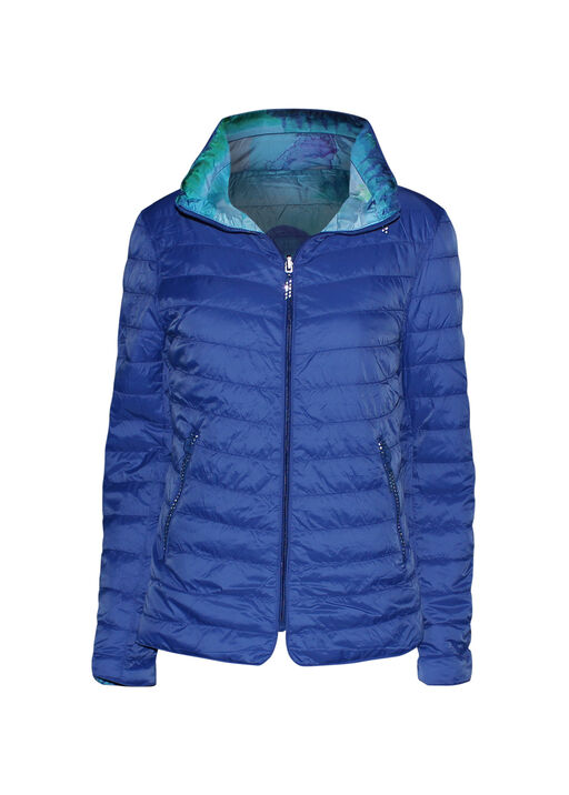 In the City Reversible Jacket with Hidden Hood, Blue, original