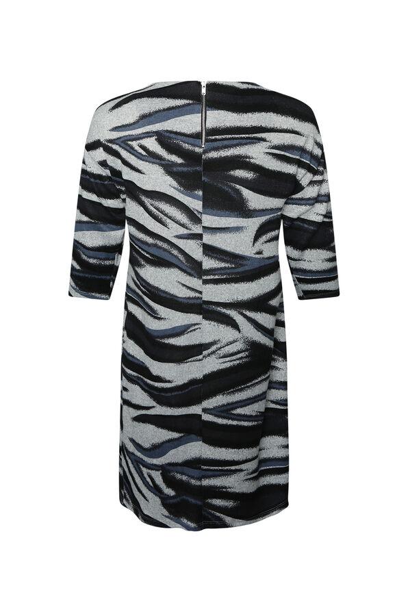 Aleta Sweater Dress 3/4 Sleeve, Indigo, original image number 1