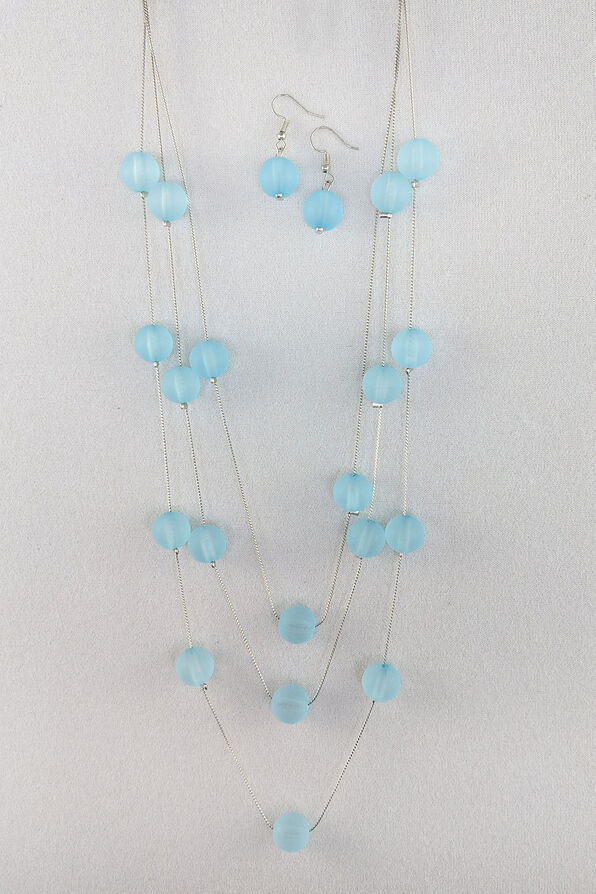 Bubbles Necklace and Earrings Set, , original image number 1