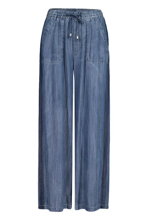 Lyocell Denim Wide Leg Pant, Denim, original image number 0