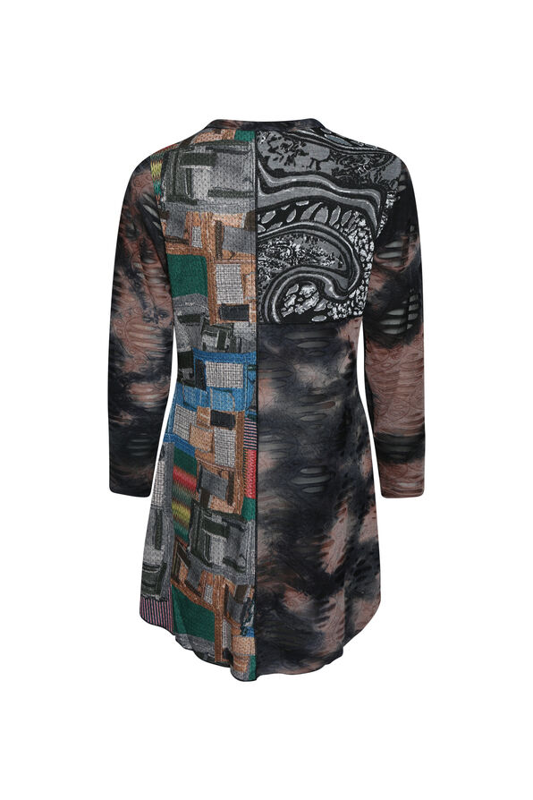 Abstract Art Mixed Media Tunic, Multi, original image number 1