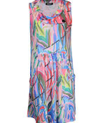 Cowl Neck Sleeveless Dress with Pockets, Pink, original image number 0