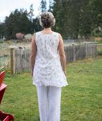 Layered Sleeveless Tunic, Cream, original image number 1