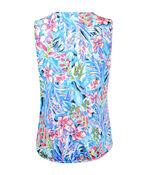 Keyhole Neck Sleeveless Wrap Blouse, Pink, original image number 1