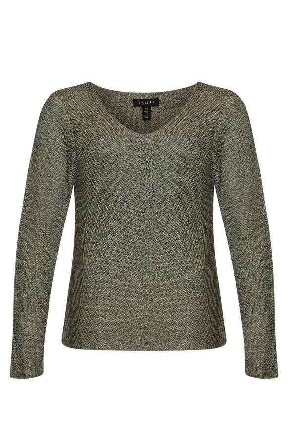 Layla V-Neck Sweater, , original image number 1