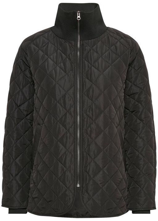 Quilted Bomber Jacket , Black, original