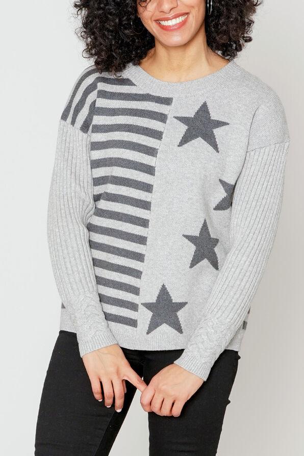 Stargate Stripe Sweater, Grey, original image number 0