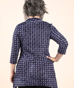Pucker Knit Tunic, Denim, original image number 1