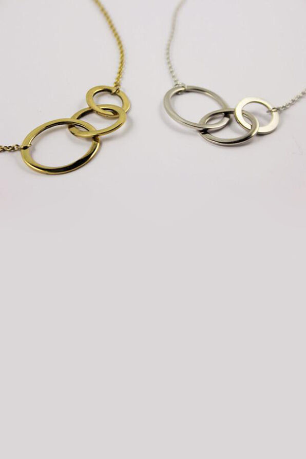 Triple Circle Necklace, , original image number 0