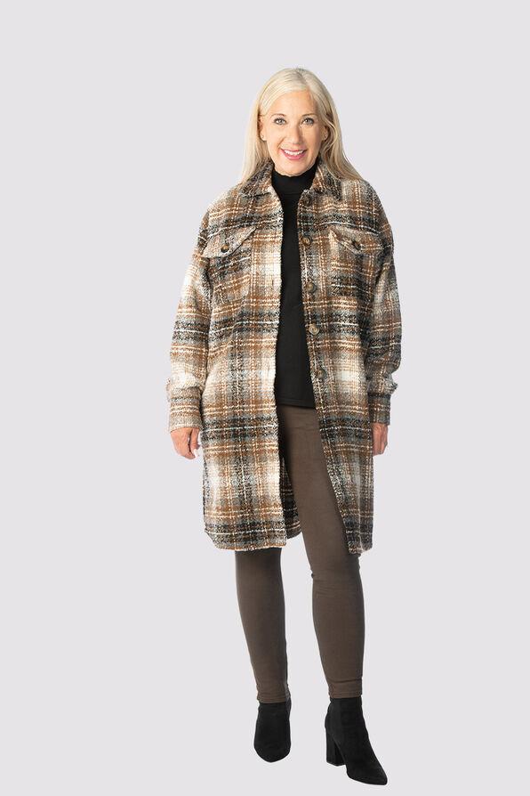 The Perfect Plaid Coat, Brown, original image number 1