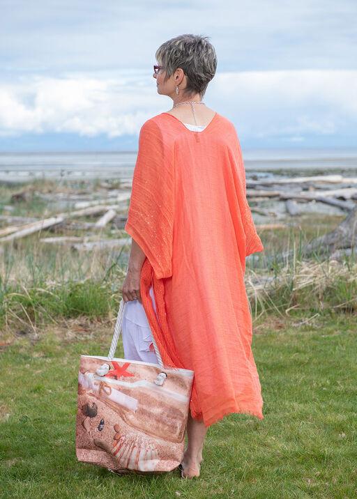 Cotton Kimono with Sequins, Coral, original