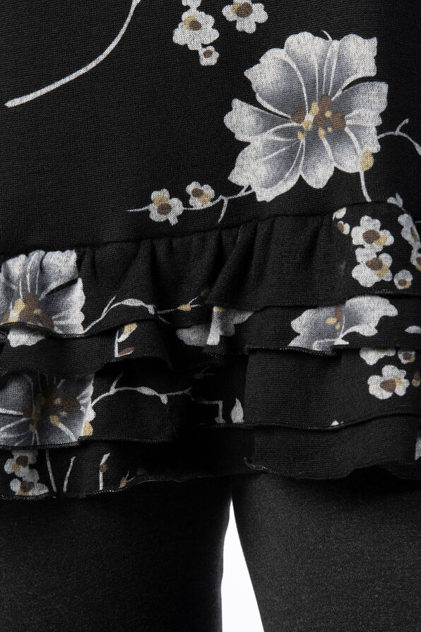 Hibiscus Ruffle Tiered Tunic, Grey, original image number 3