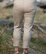 Pull-On Crop Stretch Pant, Beige, original image number 1