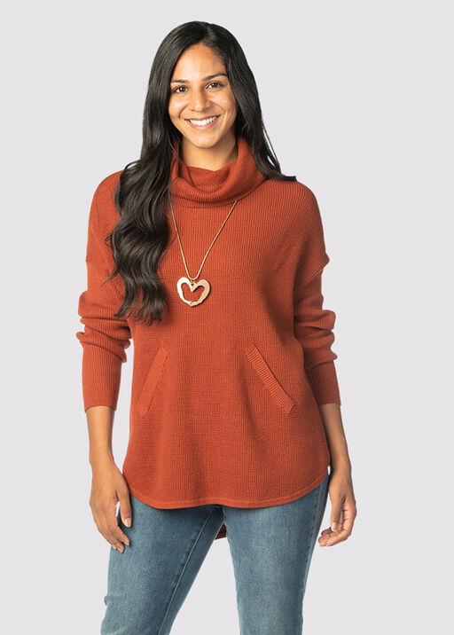 Auburn Tunic Sweater , Rust, original