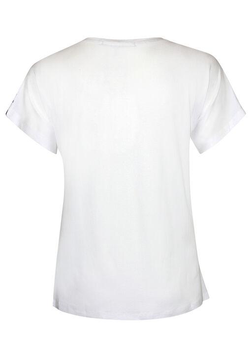 Sunglasses Print Short Sleeve T-Shirt, White, original