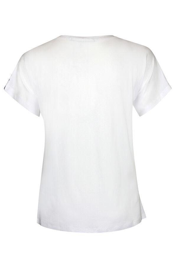 Sunglasses Print Short Sleeve T-Shirt, White, original image number 1