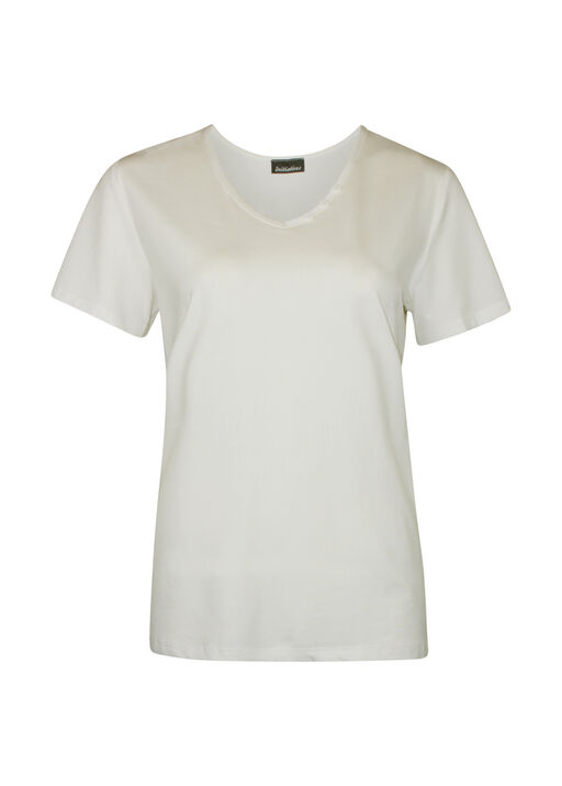 V-Neck T-Shirt with 3 Button Accent, , original