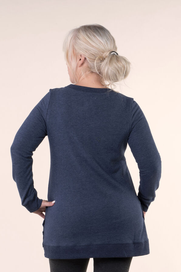 Cozy Tunic Top, Navy, original image number 1