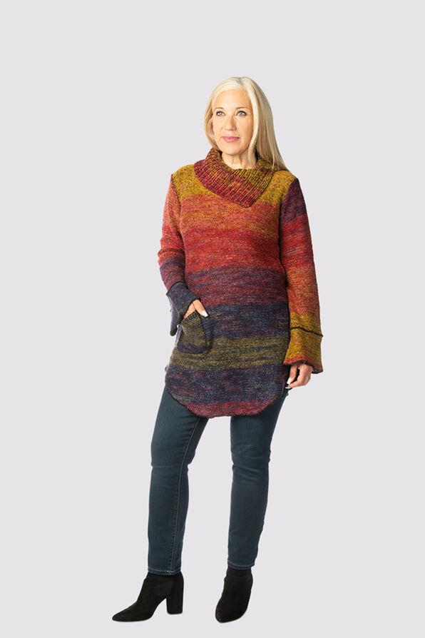 Space-Dye Groove Sweater, Multi, original image number 1