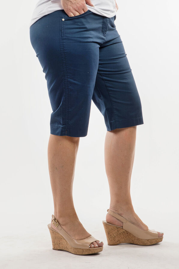 Bermuda Shorts, Navy, original image number 1
