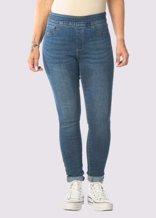 Tribal Audrey Pull-On Ankle Jean, Blue, original