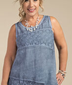 Mary Sleeveless Blouse, Denim, original image number 3