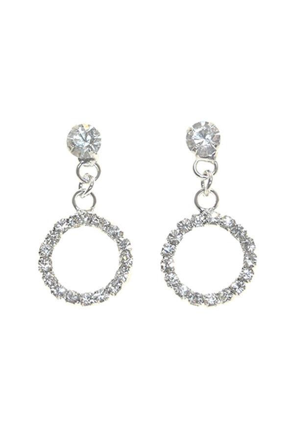 Elegant Crystal Earrings, Silver, original image number 0