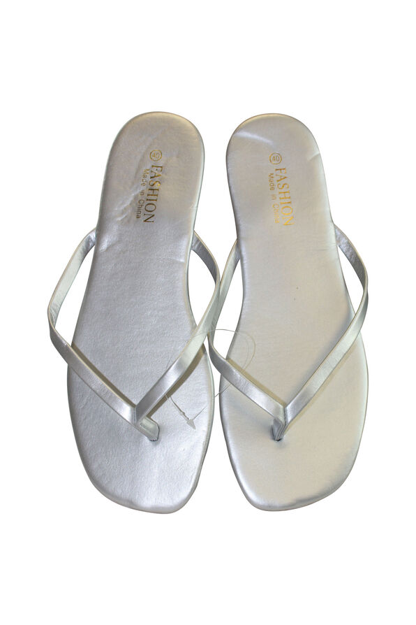 Metallic Look Flip Flop, , original image number 2
