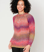 Vibrant Vibes Sweater, Berry, original image number 0
