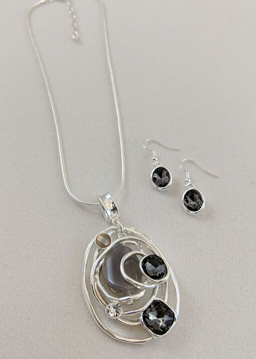 Coil Pendant Necklace and Earrings Set, , original
