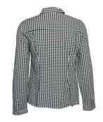 Knotted Houndstooth Button Front, Black, original image number 1