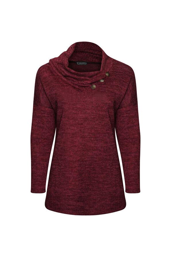 Alyssa Drape Neck Sweater, , original image number 1