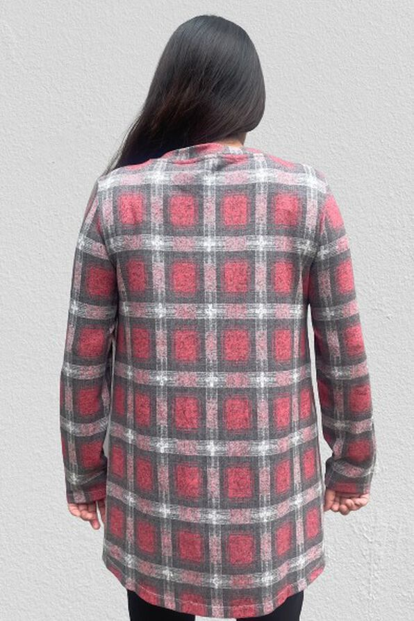 The Comfy and Flowy Lounge Tunic, Red, original image number 1