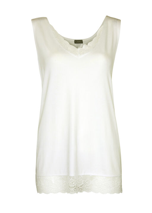 Sleeveless Lace Trimmed Top, , original