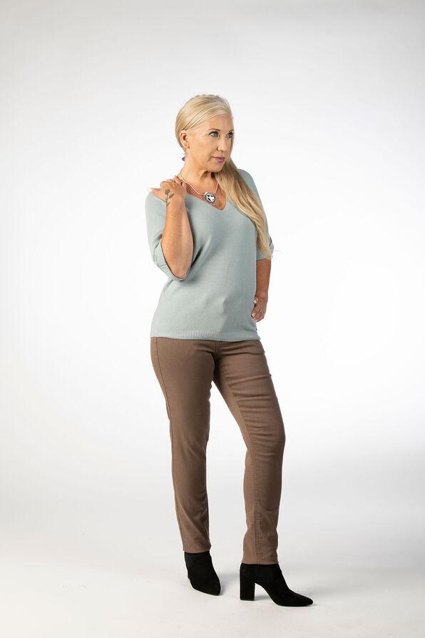 Pastel Mint Knit Sweater Shirt, Blue, original image number 0