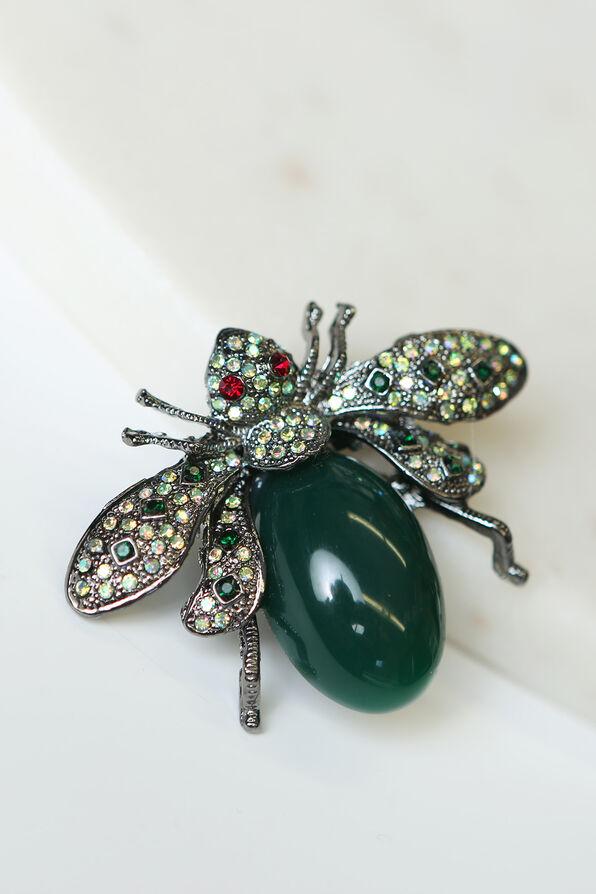 Beetle Brooch, Black, original image number 0