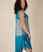 Sleeveless Dip Dye Swing Dress, Teal, original image number 2