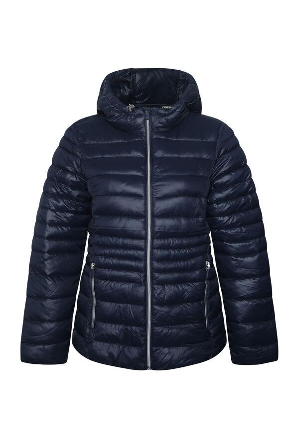Packable Short Ultralight Hooded Puffer Coat , , original image number 2