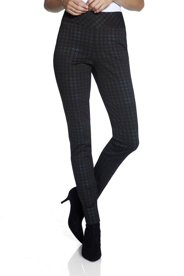 UP Ponte Plaid Pants, Black, original image number 1