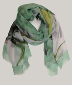 Butterfly Print Square Scarf, , original image number 1