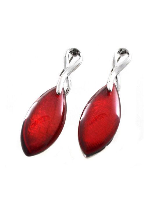 Ruby Red Drop Earrings, , original